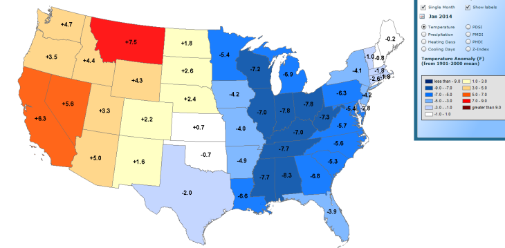NOAA_JAN_2014_Map_Anomaly