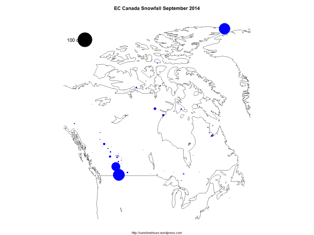 EC Canada Snowfall September 2014